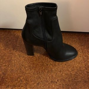 Never worn Vince leather booties